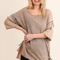Washed Tunic w/High Low Hemline