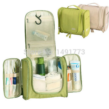 Men's Women's Fashion Waterproof Polyester Cosmetic Makeup Storage Bag Hanging Travel Toiletry Bag