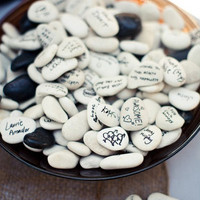 Wishing Stones 100 Count - Guest Book Alternative - Wedding- Unique, Fun, & Eco Friendly