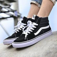 Vans SK8 Hi New Pattern Canvas Old Skool Flats Shoes Sneakers Sport Shoes