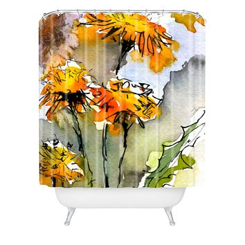 Ginette Fine Art Dandelions Shower Curtain