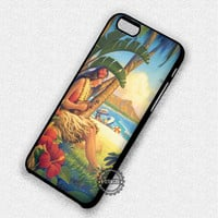 Vintage Hawaiiana Tropical Hula Girl - iPhone 7 6 5 SE Cases & Covers