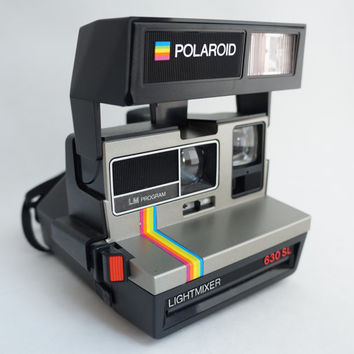 Polaroid Light Mixer 630 SL Rainbow Instant Film Camera Takes Impossible Project Film!
