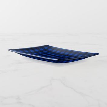 Buffalo Check Blue Lumberjack Flannel Trinket Trays
