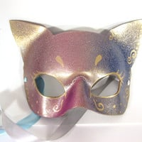 Simple, Glittery Half Cat Mask, Perfect for Mardi Gras!