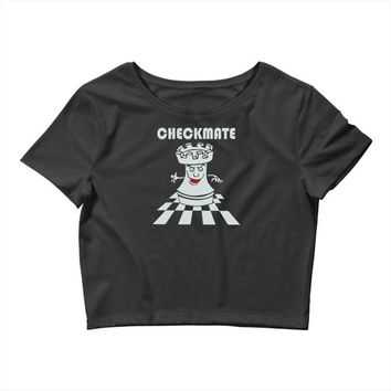 varsity chess checkmate Crop Top