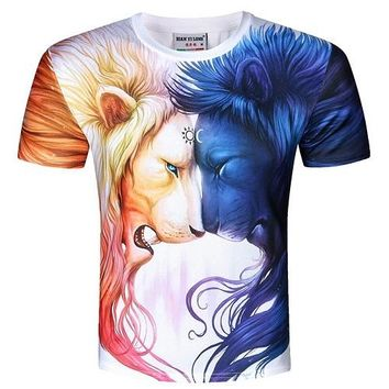 Lion And Lioness - Unisex T-shirt - All Over Print