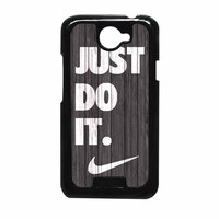 Nike Just Do It Wood Colored Darkwood Wooden HTC One X Case