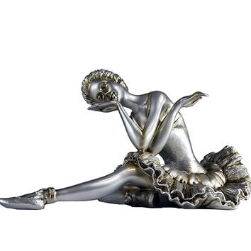 Ballerina Stretching Figurine