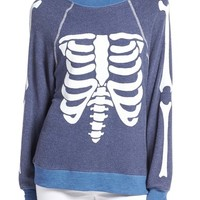 Wildfox 'Inside Out' Skeleton Print Pullover | Nordstrom