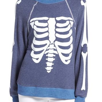 Wildfox 'Inside Out' Skeleton Print Pullover   Nordstrom