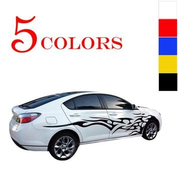 Universal 1 Pair Car Stickers Whole Body Fire Flame Decor Vinyl Decals Car Styling Stickers for Truck Auto