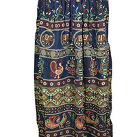 Womens Gypsy Fashion Maxi Skirt Printed Flare Flirty Casual Summer Skirts S/M