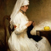 Portrait Of A Nurse From The Red Cross Print