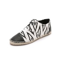 Cynthia Vincent Fatima Lace Up Haircalf Espadrilles