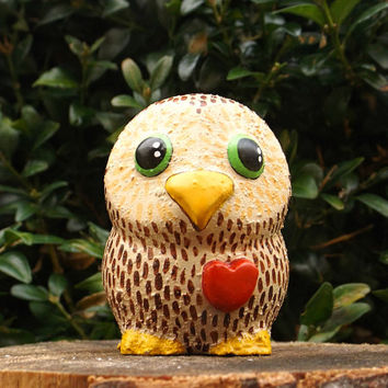 The Owlet Valentines Day Gift Owl Figurine Owl Ornament