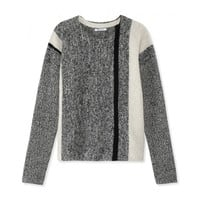 T by Alexander Wang Tweed Pullover Sweater - Grey Sweater - ShopBAZAAR