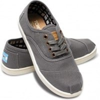 Grey Canvas Cordones Lace-Up Sneakers Shoes