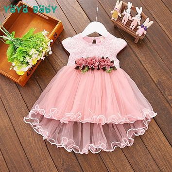 Flower Newborn Baby Dress 2018 New Summer Cute Baby Girls Clothes 1 Year Birthday Dress