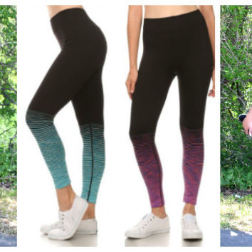 Active Ombre Stiped Workout Pants