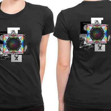 CREYH9S Coldplay Present Albums 2 Sided Womens T Shirt