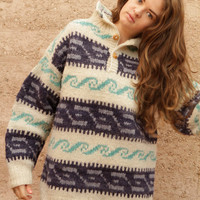 woolrich COWICHAN 60s wool nordic sweater EUROPEAN top