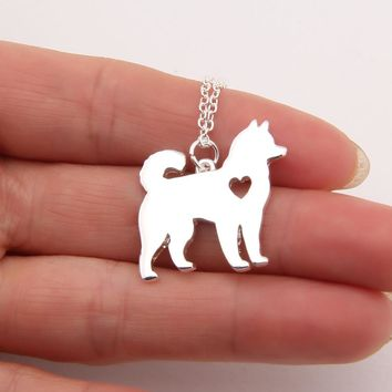 1pcs Dainty Husky Necklace Siberian Alaskan Malamute Akita Dog Necklace Memorial Gift Pet Necklaces & Pendants Women Animal