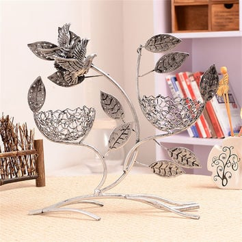Vintage Bird Nest Tree Shaped Jewelry Earring Cases&Display Necklace Earrings Display Rack Stands Jewelry Holder 2 Colors