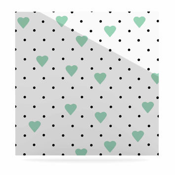 """Project M """"Pin Point Polka Dot Mint"""" Green White Luxe Square Panel"""
