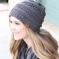 C.C.: Speckled Beanie {Melange Gray}