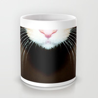 Cat Art - Super Whiskers Mug by Sharon Cummings