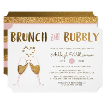 Gold & Pink Brunch & Bubbly Wedding Bridal Shower