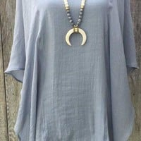 Better Believe it Caftan- Gray