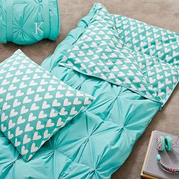 Pintuck Sleeping Bag + Pillowcase, Pool Sweethearts