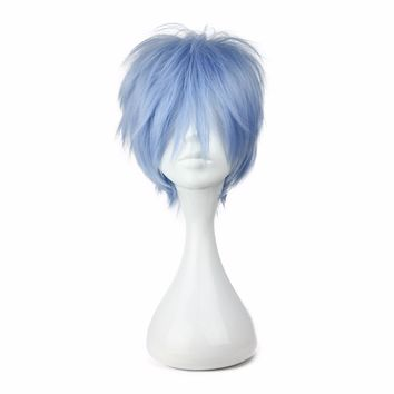 MCOSER 30CM Synthetic ice blue Wig 32cm Short Cosplay Wig Free Shipping 100% High Temperature Fiber 168A