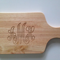 Personalized Cutting Board with Monogram - Monogrammed Cheese Board - Classic Wedding Gift