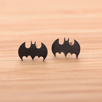 BATMAN stud earrings, in black