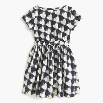 crewcuts Girls Heart-Print Dress