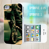 unique iphone case, i phone 4 4s 5 case,cool cute iphone4 iphone4s 5 case,stylish plastic rubber cases cover, funny  car man  mask   p999