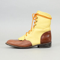 LEATHER Lace-up Boots US 8.5
