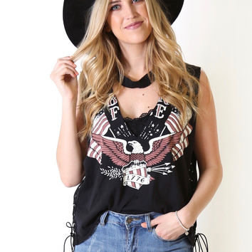 Born Free Lace Up Top