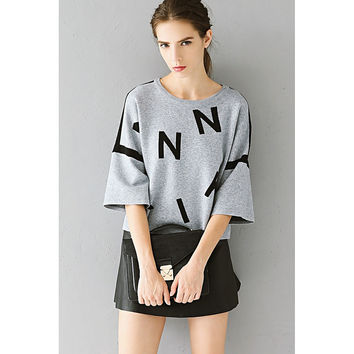 Letter Print Sweater