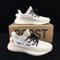 Off-White x adidas Yeezy Boost 350V2 Sneakers Sport Shoes