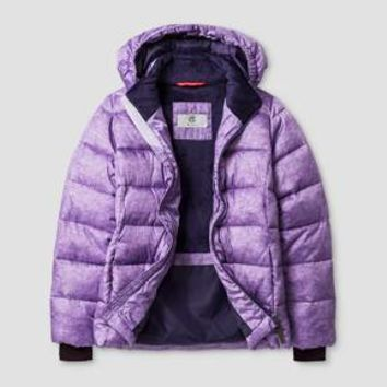 Girls' Hooded Puffer Jacket - C9 Champion® Lilac