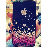 Bling Apple Crystals iPhone Cases, iPhone 4 case, iPhone 4s case, iPhone 5 Case, Multicolored Rhinestone iPhone 4 Cases, Samsung Case