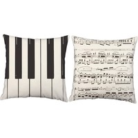Piano Instrument Throw Pillows