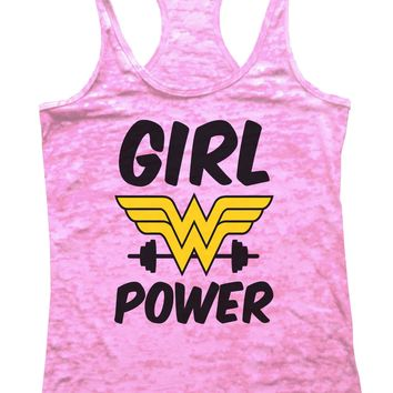 Girl Power Burnout Tank Top By Funny Threadz