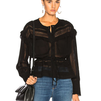IRO Keola Top in Black | FWRD