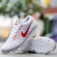 Nike Air Vapormax Popular Men Casual Air Cushion Sport Running Shoes Sneakers White&Light Grey