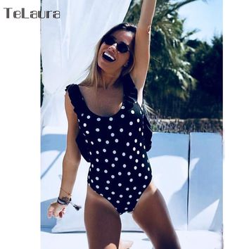 2018 New Sexy One Piece Swimsuit Women Swimwear Push Up Bathing Suit Ruffle Monokini Female Bodysuit Summer Beach Wear Swim Suit